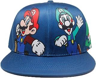 ASLNSONG سوبر ماريو البيسبول كاب قماش قابل للتعديل الهيب هوب كاب قبعة للرجال والنساء والأولاد والبنات