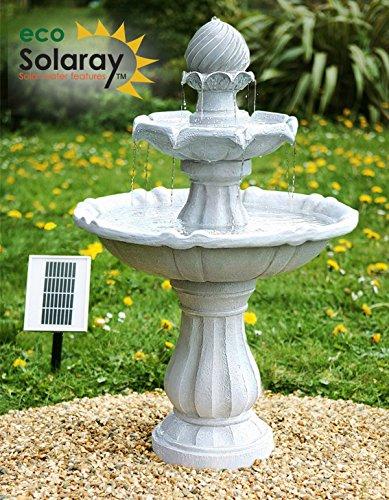 Fuente Solar Imperial con Luces - Blanca 92cm - Por Solaray: Amazon.es: Hogar