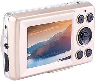 Mini cámaras digitales HD cámaras digitales de apuntar y disparar Videocámara de video de 2.4 pulgadas 16MP 720P 30FPS zoom 4X para niños adolescentes campamentos exteriores escuelas(oro)
