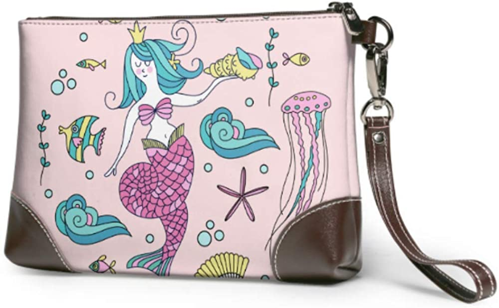 Wristlet Handbag Mermaid It is very Excellent popular Mythological Surrounded Sea Creature By