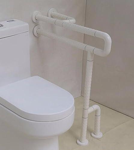 solo para ti QPSSP Pierna Nylon Antibacterial Antideslizante WC, Lavabo, Libre Libre Libre De Barreras WC, Cuarto De Baño WC, WC Apoyabrazos, blanco 60Cm,Un  ventas en linea