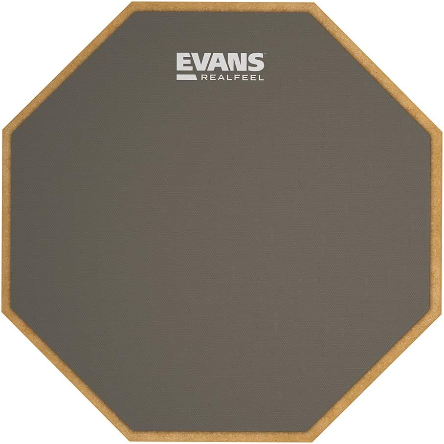 Evans Rf12g Almohadilla De Practica Realfeel De Evans 12 305 Mm Gris Amazon Es Instrumentos Musicales