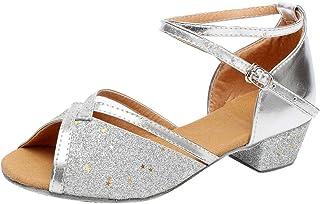 Chaussures de Danse Enfants Filles, Chaussures à Talons Hauts WINJIN Bébé Filles Chaussures Princesse Imprimé Léopard Appa...