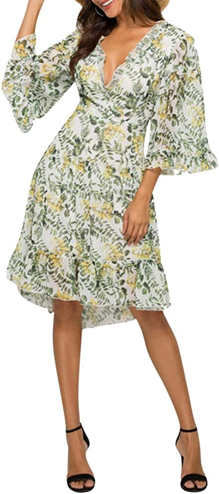 Floral Dresses for Regular dealer Women Summer - Sexy Beach Boho Party Alternative dealer V Dress