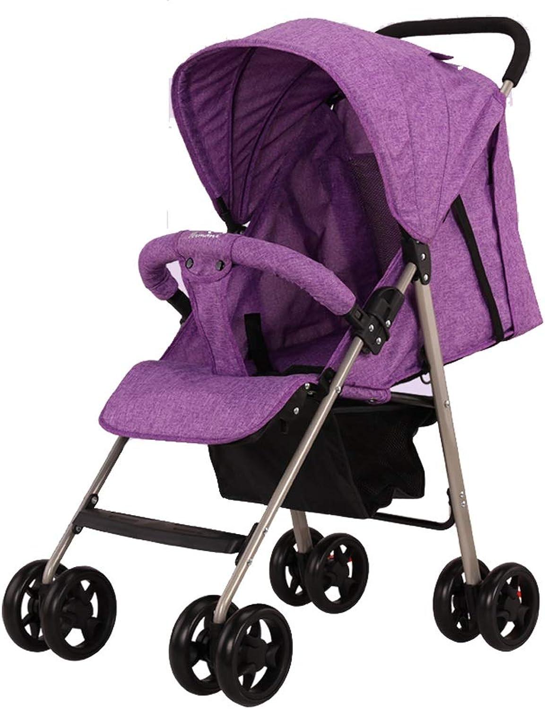 Nuevos productos de artículos novedosos. Little Beauty El Cochecito de de de bebé El Paraguas para bebé se Puede sentar Reclinable Plegable Ultra liviano El portátil Puede EEstrella en el avión Amortiguador de Choque (Color   púrpura)  la calidad primero los consumidores primero
