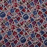 Hans-Textil-Shop Stoff Meterware Mosaik, Mischgewebe - 1