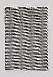 FAB HAB – Recylced Mascota (poliéster Hilo) Zona Alfombra para Interiores/al Aire Libre - Asbury - Charcoal & White (60 cm x 90 cm)