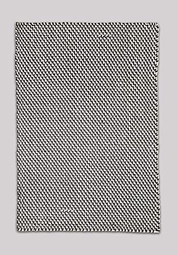 FAB HAB Tappeto per Interni ed Esterni – Reversibile, Tessuto a Mano, Morbido – Asbury - Charcoal & White (60 cm x 90 cm)