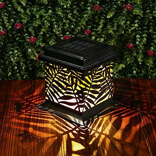 Linterna Solar Exterior GolWof LED Metal Linterna Solar Exterior IP44 Impermeable Luz Solar Linterna Jardín Farol Solar Decoración para Jardín Patio Terraza Patio Navidad (Blanco Cálido)