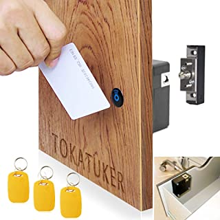 Electronic Cabinet Lock Kit Set Hidden DIY Lock for Wooden Cabinet Drawer Locker RFID Card/Tag Entry