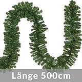 Casaria Weihnachtsgirlande I 5m I 100 LED's I In- & Outdoor I Tannengirlande Tannenzweiggirlande Weihnachtsdeko - 3