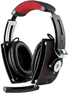 Thermaltake Level 10 M - Auriculares de Diadema para Videojuegos (Conector Jack de 3,5mm, 3m), Color Negro y Aluminio