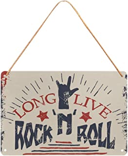 Rock'n'Roll Metal Tin Sign Custom Wall Hanging Decor for Man Cave Bar Pub Game Room 12x8 Inches