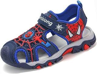WQLESO Niños Niños Spiderman Baotou Sandalias Niños Dibujos Animados Transpirable Trekking Senderismo Piscina de Verano Za...