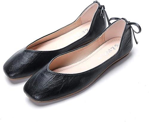 femmeschaussures Chaussures pour Femmes, Chaussures Plates Chaussures de Grand-mère Chaussures décontractées à tête carrée,B,31