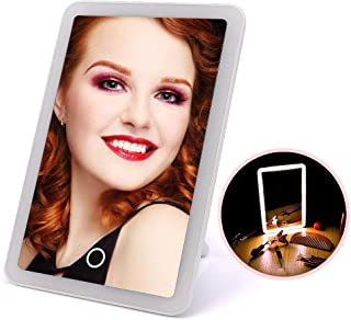 AINIYF Multi-Function Mirror LED Mirror Vanity Mirror with Touch Screen Dimming Clarity Cosmetic Mirror(White)