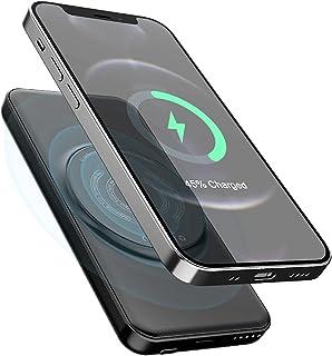 Qi Trådlös laddare Power Bank, 10000mAh USB Portable Fast Power Bank Laddningsplatta, för iPhone 12/11
