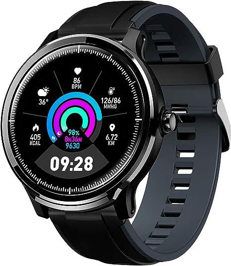 GOKOO Bluetooth Smartwatch Hombre Reloj Inteligente Fitness IP68 Impermeable Actividad Monitor Pulsómetro Compatible con Android iOS