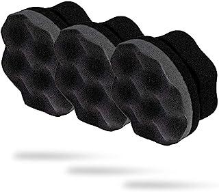 Adam's Pro Tire Hex Grip Applicator (3 Pack) - Tire Shine Car Detailing Foam Sponge Tool   Car Cleaning Supplies After Car...