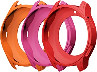 AWINNER Case for Gear S3 Frontier SM-R760, Shock-Proof and Shatter-Resistant Protective Band Cover Case for Samsung Gear S3 Frontier SM-R760 Smartwatch (Red,Pink,Orange)
