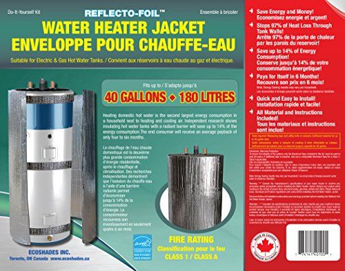 Product Image of the HOT WATER TANK HEATER INSULATION JACKET DIY 'PREMIUM' KIT :ENERGY SAVING REFLECTIVE FOIL FITS 40 GALLON/180 LITRES. MANUFACTURER OF THIS KIT FOR 27 YEARS. EXCLUSIVELY SOLD BY 'JR GLOBAL SALES' ONLY
