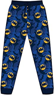 Mens Official DC Batman Loungepants | Mens Loungewear All Over Print Pyjama Bottoms, Size Small - X-Large