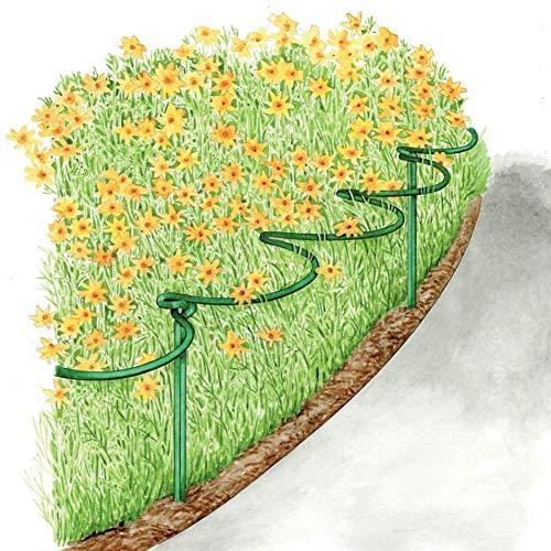 SUREH Halbrunder Pflanzenring für Pfingstrosen, Hortensien, Rosen, 25,4 cm, halbrund, Metallstütze mit 40,6 cm Beinen, 2 Stück