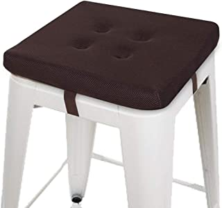 baibu Square Chair Pads, Super Breathable Stool Cushions Square Seat Cushions - One Pad Only (12