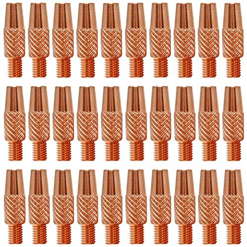 """Mig Welding Contact Tips 186406 .035"""" for Miller Welder Gun Spoolmate 100, 200, 3035, 185 and Hobart Spoolgun DP-3035, SpoolRunner 100,Handler 125, 125 Ez, 130, 140, 190, 210MVP etc"""
