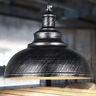 FNCUR Black Finish for Dining Room Chandelier Ceiling Light E27 Retro Metal Industrial Pendant Light Antique Vintage Barn Hanging Lamp Oil Rubbed (Color : Black)