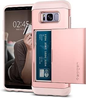 Spigen Samsung Galaxy S8 Slim Armor CS Card Slider, Rose Gold
