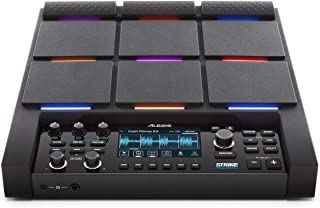 Alesis Strike Multipad | 9-Trigger Percussion Pad with RGB Backlighting, Sampler, Looper, On-Board 2-In/2-Out Soundcard, S...