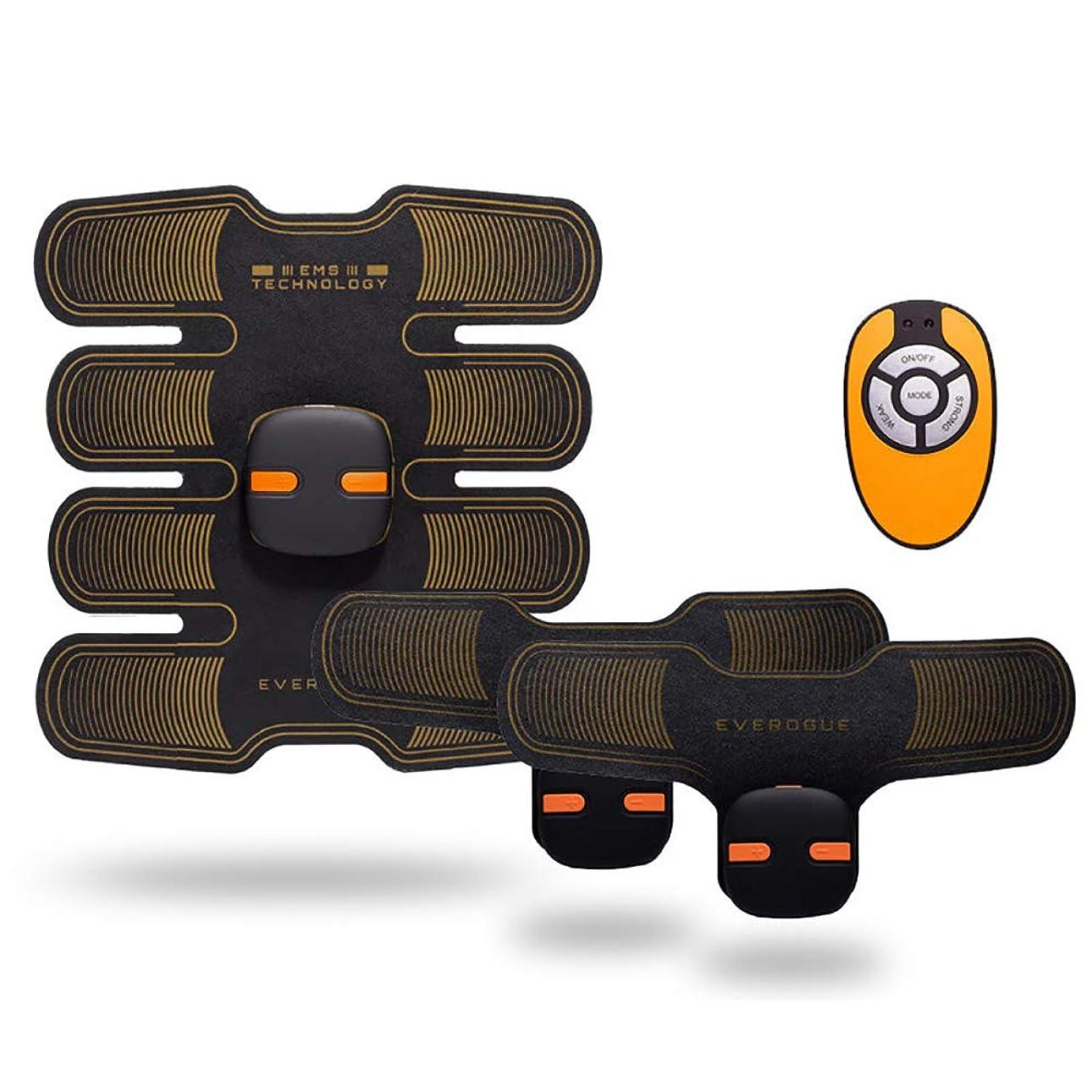 送信する魅力人種筋肉トナー、腹部調色ベルトabsトレーナーボディフィットネスベルトトレーニングマシン6モード10レベル用アームレッグトレーナー,Orange,1