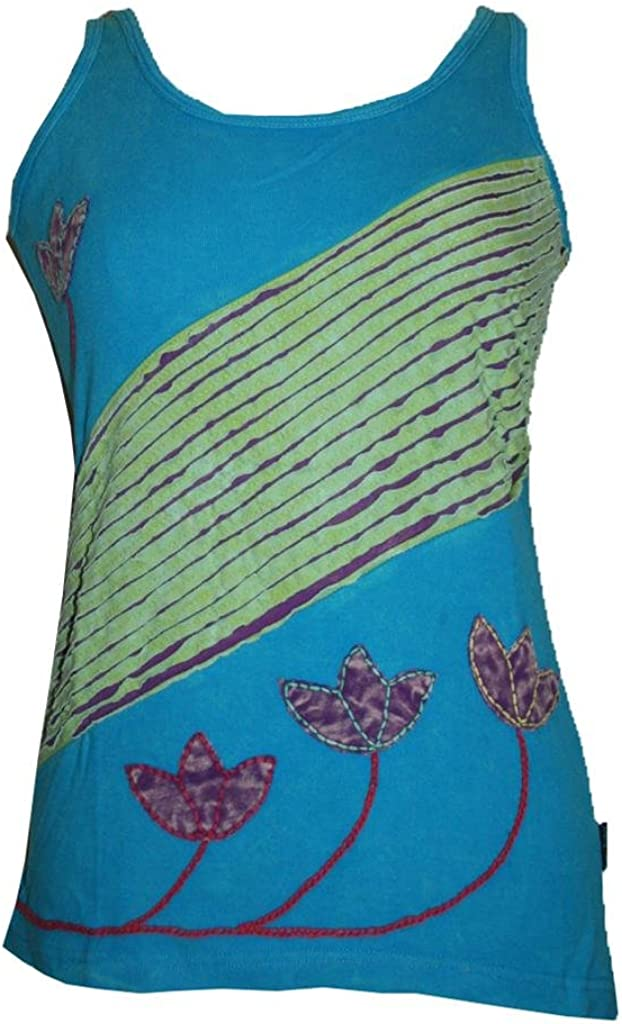 Agan Traders Women's Hand Crafted Bohemian Tank Top