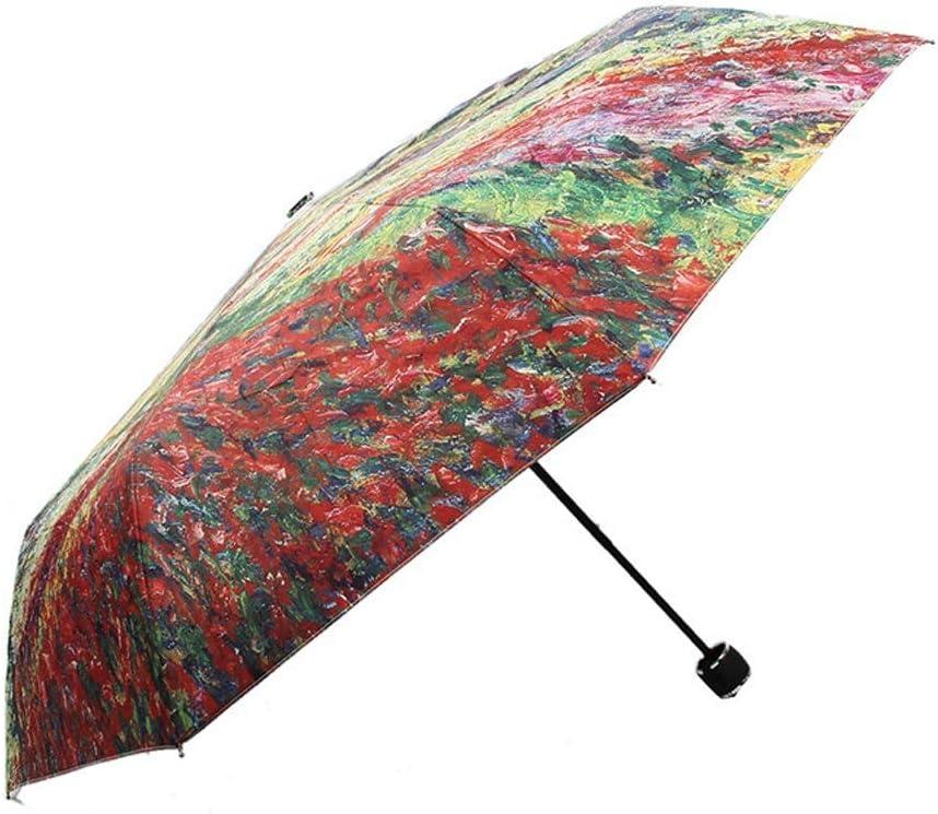 YHYHNE Folding Oakland Mall Umbrella In a popularity Summer Bones 8 Parasol