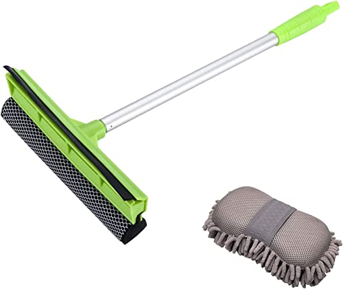 high quality X XINDELL 2-in-1 Car Window wholesale Squeegee and Wash Sponge outlet online sale Mitt with Premium Chenille Microfiber outlet sale