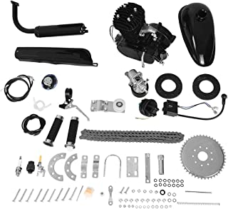 50cc Bike Bicycle Engine Kit, Motorized Bike 2-Stroke, Petrol Gas Engine Kit, Scooter Parts, Cycle Motor Engine Kit Set for Motorized Bike (Shipped from US) (Black, 50cc)