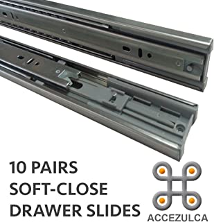 (PACK 10 PAIRS) ACCEZULCA SOFT-CLOSE DRAWER SLIDES (22 INCHES)