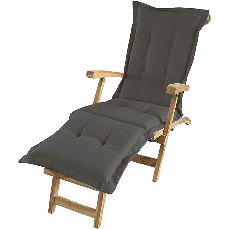 WAHL 2 Auflage Liegestuhl Deckchair Deckchairauflage DENVER orange 176x48cm