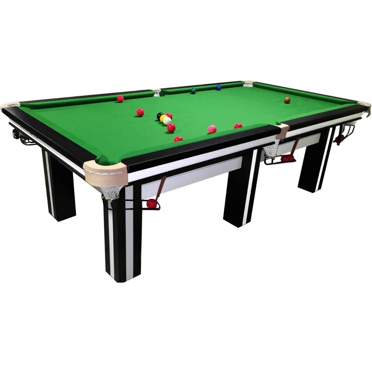Buckshot - Mesa de billar (370 x 195 cm, tela verde de 12 patas, tablero de pizarra de 36 mm, 990 kg), color blanco y negro: Amazon.es: Deportes y aire libre