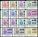Goldhahn DDR Dienstmarken C Nr. 1-15 DV mit amtlichen Ungültig-Stempeln - Bri...