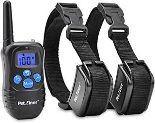 Dog Training Collars with Remote - Shock Collar for 2 Dogs, Small, Medium, Large, Rechargeable 100% Waterproof E-Collar with 3 Training Correction Modes, Shock, Vibration, Beep, 1000 ft Range