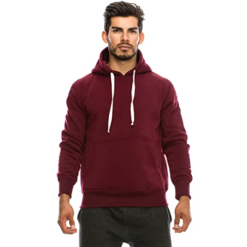 f697d108 JC DISTRO Mens Hip Hop Basic Unisex Pullover Sweatshirts Hoodie Jacket,  Size Upto 5XL Big