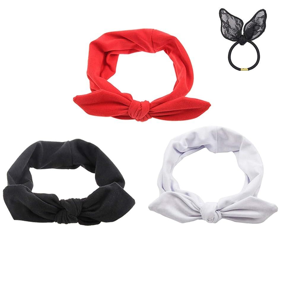 Pop Your Dream Vintage Adults Elastic Headband Bunny Ears Bow Hairband Hair Decor Accessory