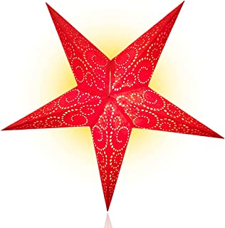 Happy Sales HSSL-UNTRED, Unity Swirl Paper Star Lantern, Red