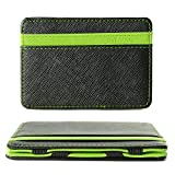 AREO Classic Men's PU Leather Magic Money Clip Slim Wallet ID Credit Card