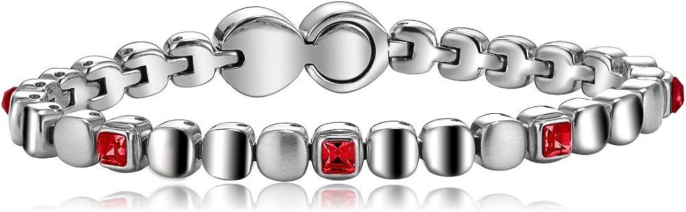 Breil,bracciale da donna in acciaio con pietre,collezione rolling diamonds TJ1455