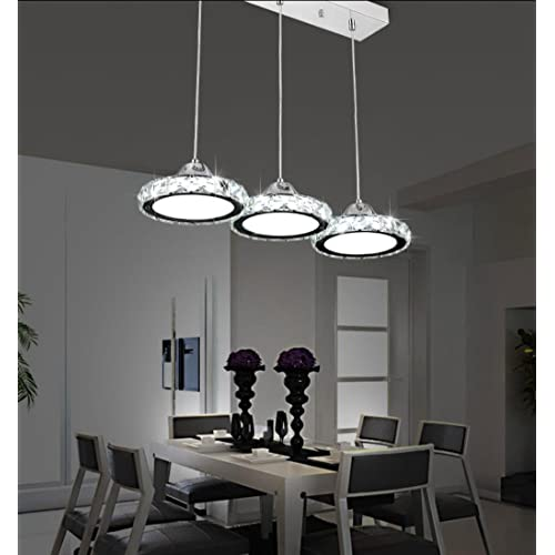 Great Restaurant Chandelier Three Modern Minimalist Restaurant Lamp Chandelier  Round Crystal Pendant Lamp Dining Bar Table