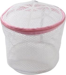 Plastic Frame Lingerie Bra Meshy Laundry Basket White