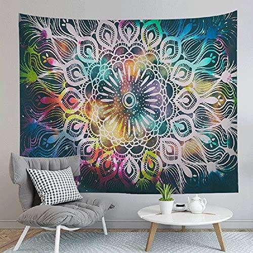 Tapiz de mandala psicodélico colgante de pared decoración de casa de campo tapiz colorido tapiz hippie tapiz bohemio psicodélico A2 180x230cm